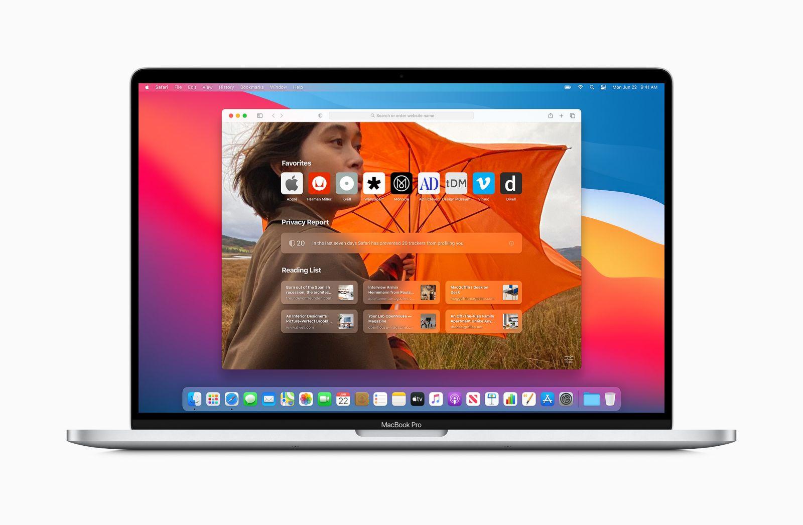 Nuevo aspecto de Safari en MacOS Big Sur